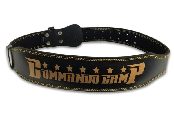 4 inch or 6 inch weightlifting belt in gold