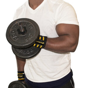 Black/Gold Commando Camp Wrist Support Wraps