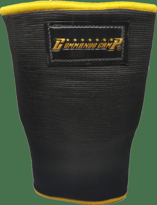 Weight Lifting Crossfit Knee Sleeves Black & Gold 1
