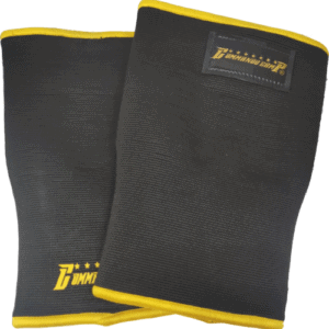 Weight Lifting Crossfit Knee Sleeves Black Gold
