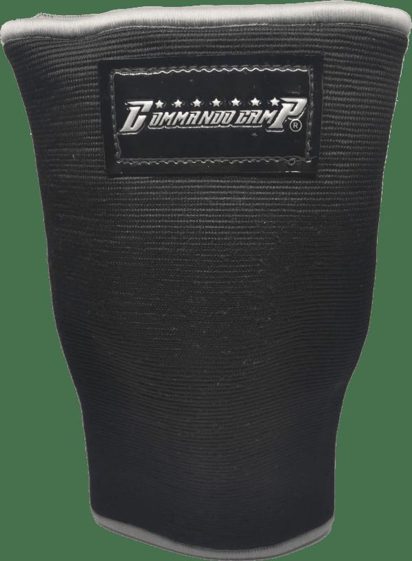 Weight Lifting Crossfit Knee Sleeves Black & Silver 1