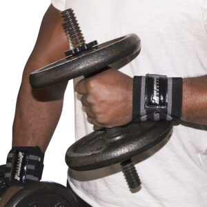Black/Silver Commando Camp Wrist Support Wraps
