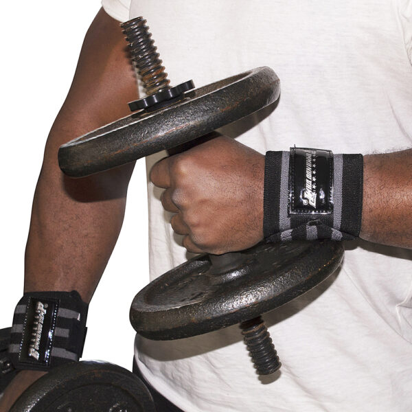 Black/Silver Commando Camp Wrist Support Wraps